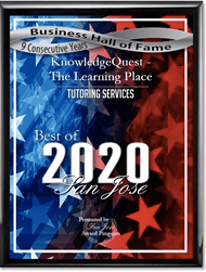 ​KnowledgeQuest voted the best learning center in San Jose 9 years in a row!