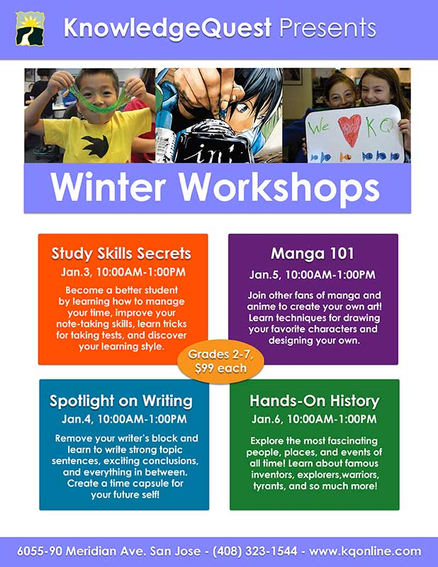 KQ presents - Winter Workshops January