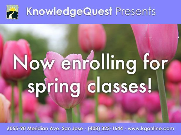 Now enrolling for spring classes!